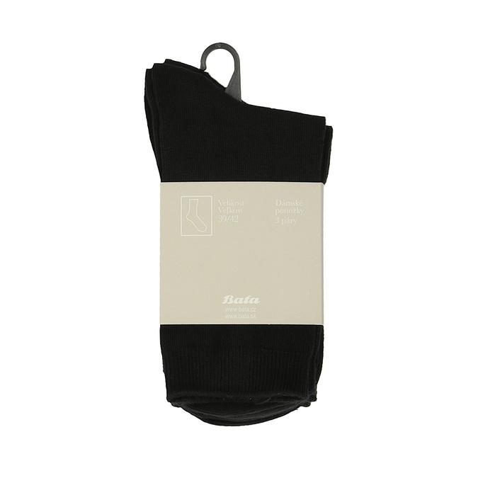 Ladies' socks - 3 pairs bata, black , 919-6474 - 13