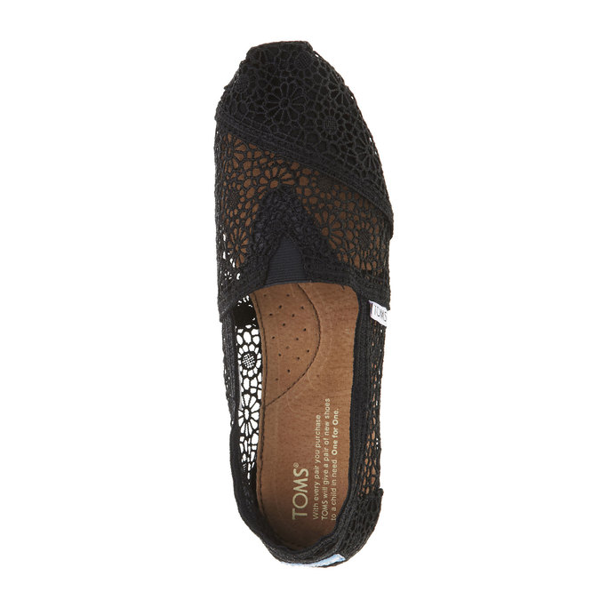 Lace slip-ons toms, black , 519-6100 - 19