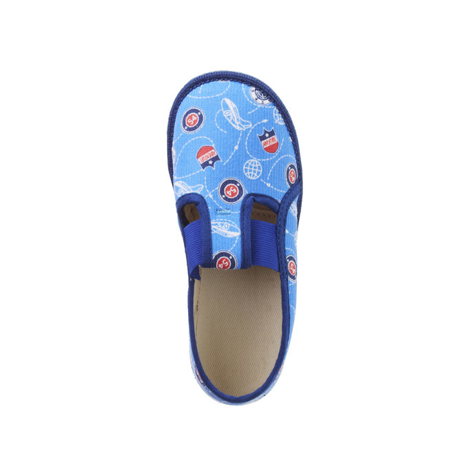 Children's slippers bata, blue , 179-0105 - 19
