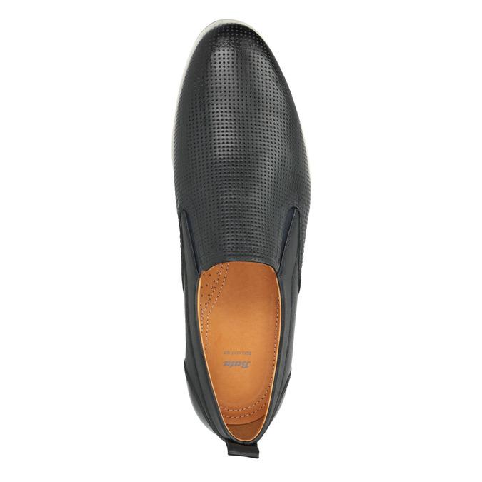 Men´s leather Slip-ons bata, black , 814-9148 - 19