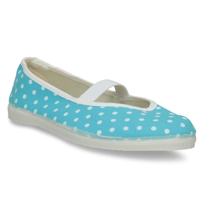 Blue gym shoes with polka dots bata, blue , 379-9103 - 13