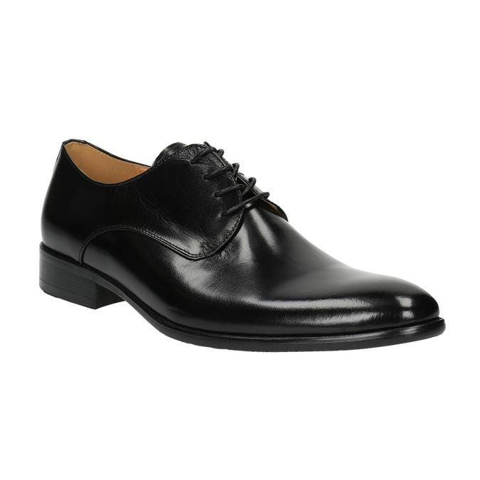 Men's leather shoes bata, black , 824-6648 - 13