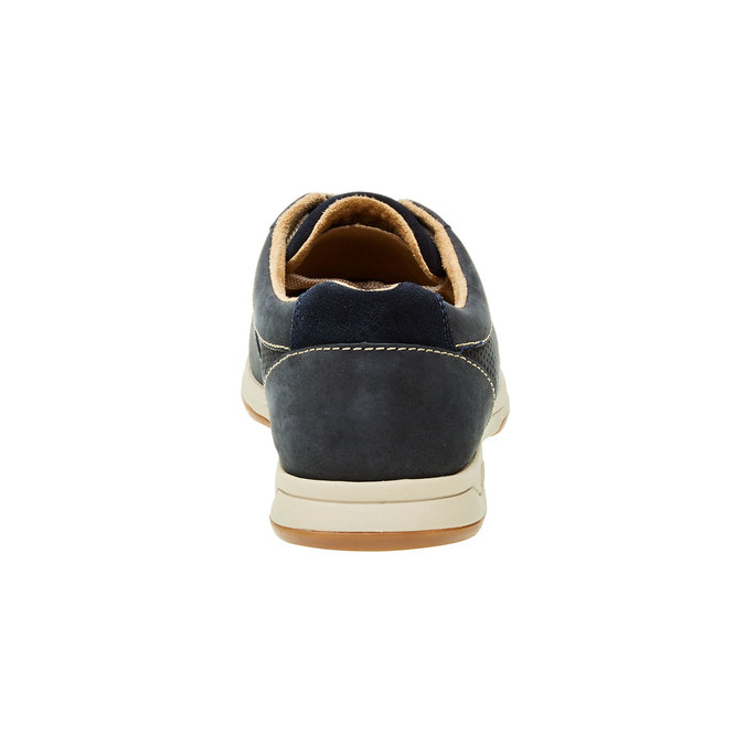 Men´s shoes made of brushed leather clarks, blue , 826-9006 - 17