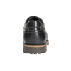 Leather low shoes with toe quilting bata, black , 826-6640 - 17
