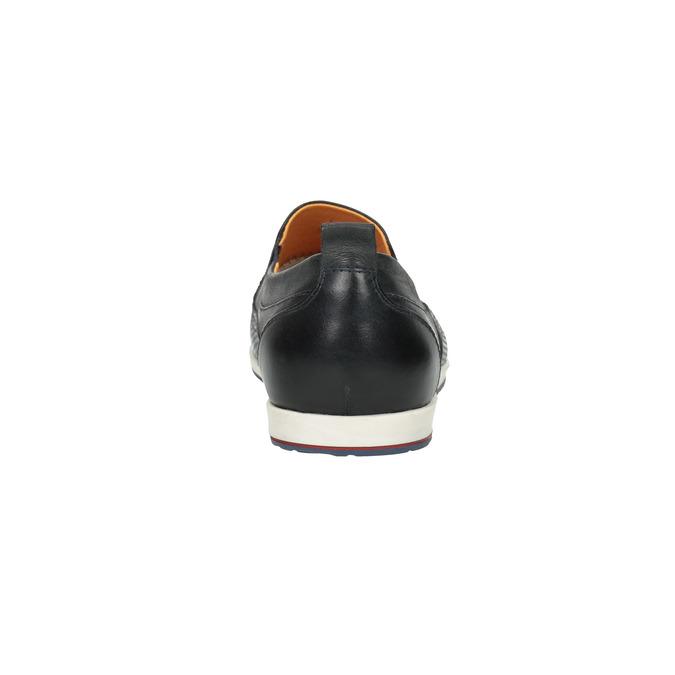 Men´s leather Slip-ons bata, black , 814-9148 - 17