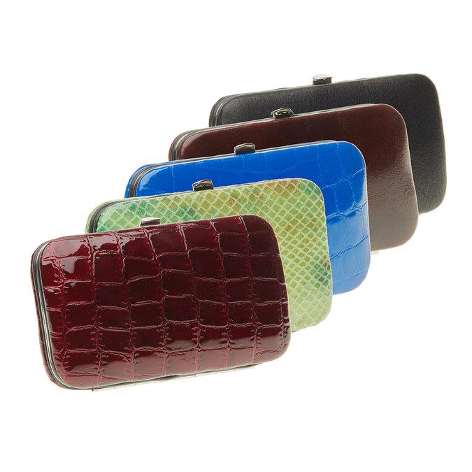 Manicure set in a leather case bata, multicolor, 944-0322 - 13