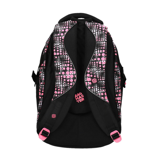 Girls´ school backpack with printed pattern bagmaster, black , 969-5615 - 26