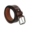 Brown leather belt bata, brown , 954-3106 - 13
