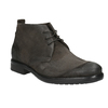 Brushed leather ankle boots bata, gray , 846-6611 - 13