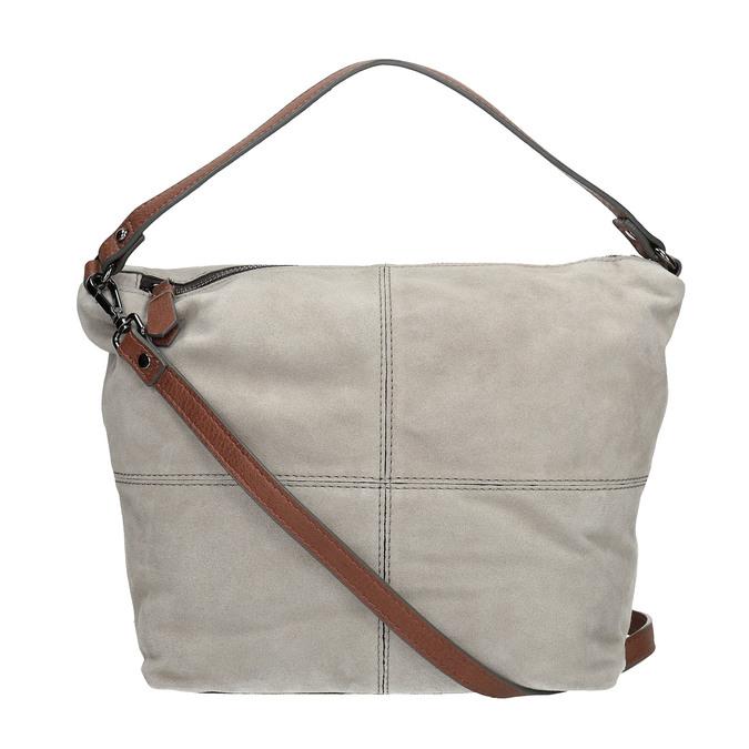 Leather Hobo-style handbag bata, gray , 963-2130 - 19