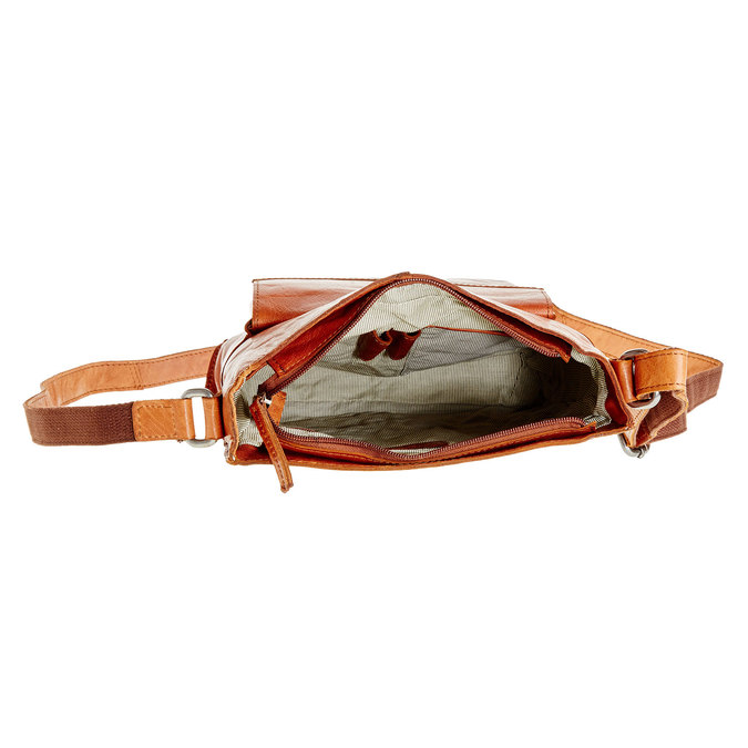 Men´s leather Crossbody bag bata, brown , 964-3141 - 15