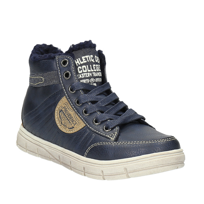 Ankle-high sneakers with insulation mini-b, blue , 491-9600 - 13