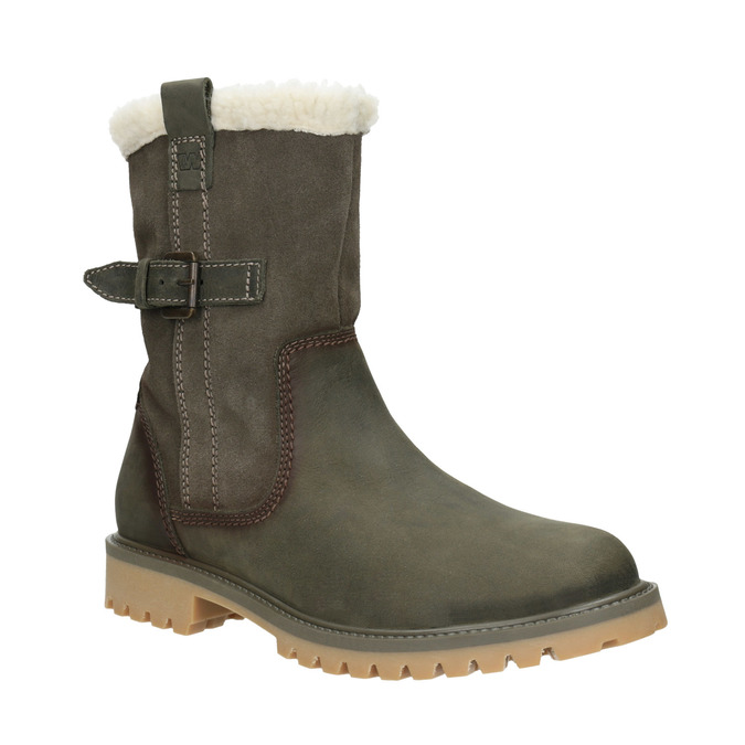 Ladies' winter boots with fur weinbrenner, gray , 594-2455 - 13