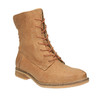 Leather insulated ankle boots bata, brown , 596-3610 - 13