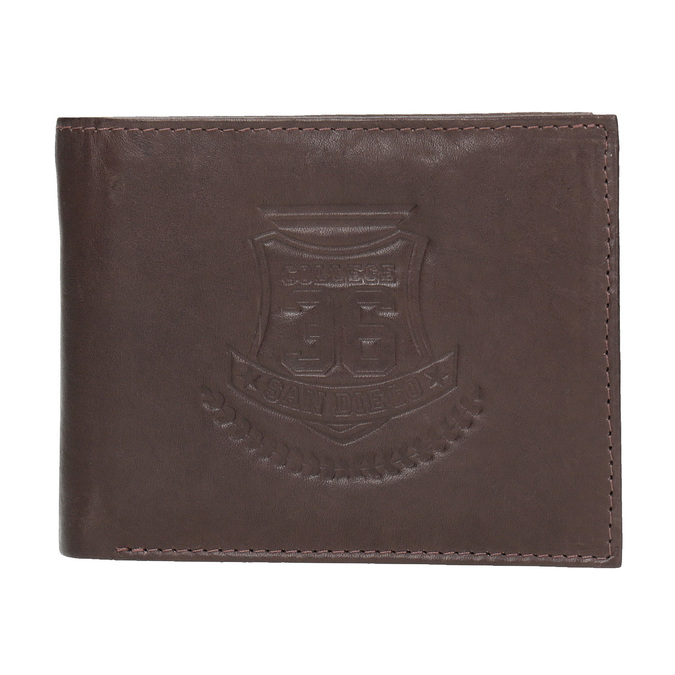 Men's leather wallet bata, brown , 944-4171 - 26