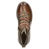 Leather Ankle Boots with Colorful Shoelaces bata, brown , 894-4180 - 26