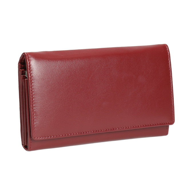 Ladies' leather purse bata, red , 944-5357 - 13
