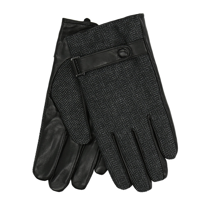 Men´s gloves with a strip, black , 909-6297 - 13