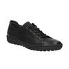 Ladies' leather sneakers bata, black , 524-6349 - 13