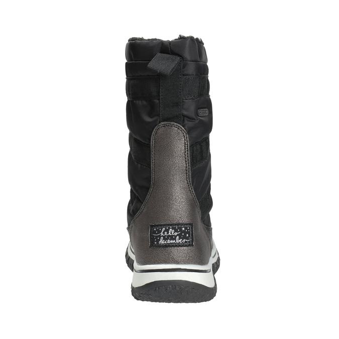 Ladies´ snow boots with warm padding bata, black , 599-6611 - 17