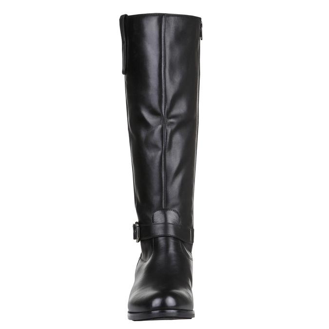Ladies' ankle sneakers bata, black , 594-6659 - 16