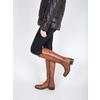 Ladies' leather Cossacks bata, brown , 594-3586 - 18