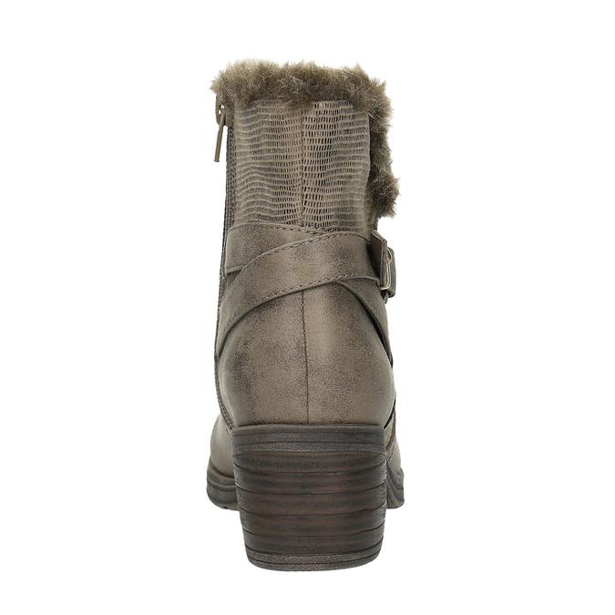 Ladies´ ankle-cut Cossacks bata, gray , 699-2632 - 17