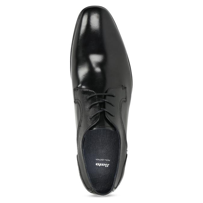 Men's leather shoes bata, black , 824-6758 - 17
