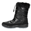 Black snow boots with fur weinbrenner, black , 591-6617 - 19
