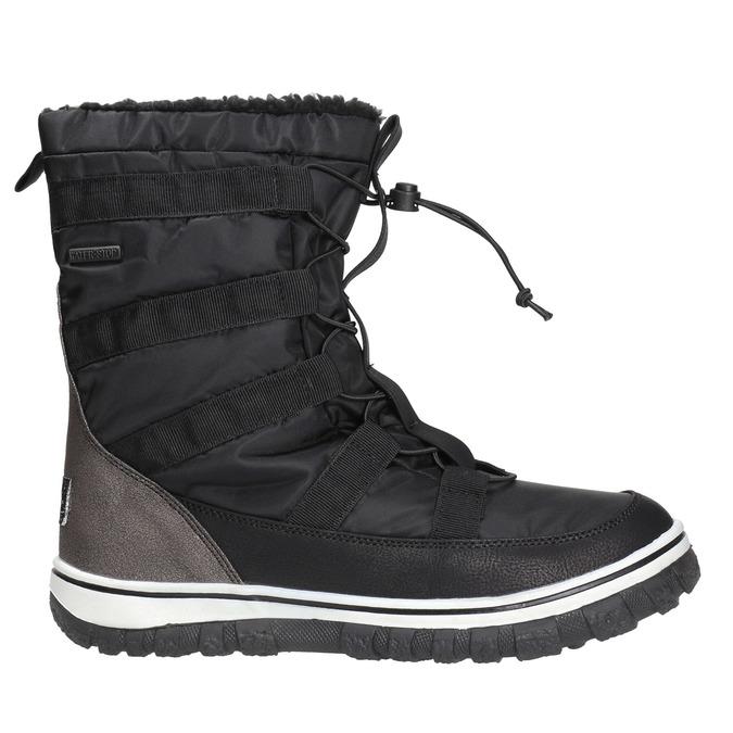 Ladies´ snow boots with warm padding bata, black , 599-6611 - 15