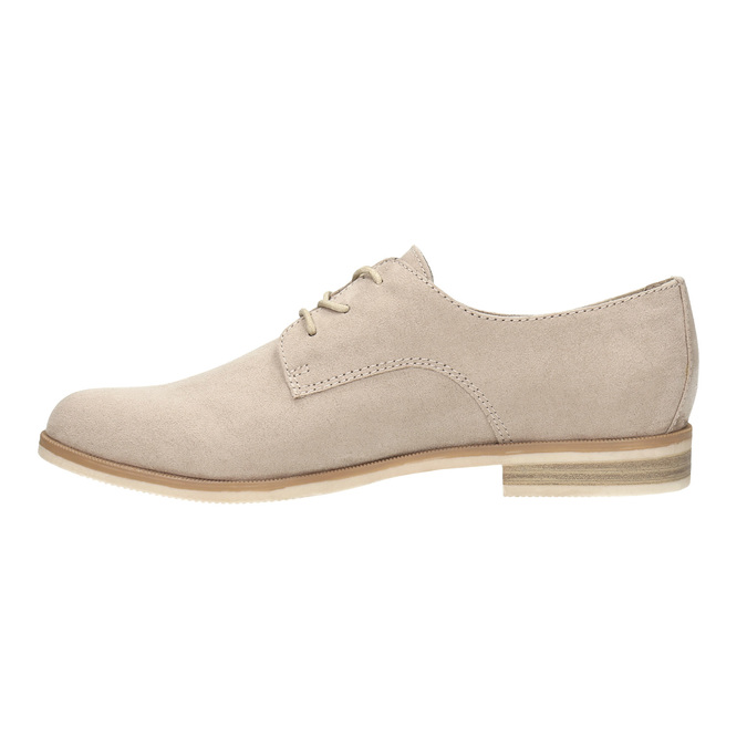 Ladies' Derby shoes bata, beige , 529-8632 - 26