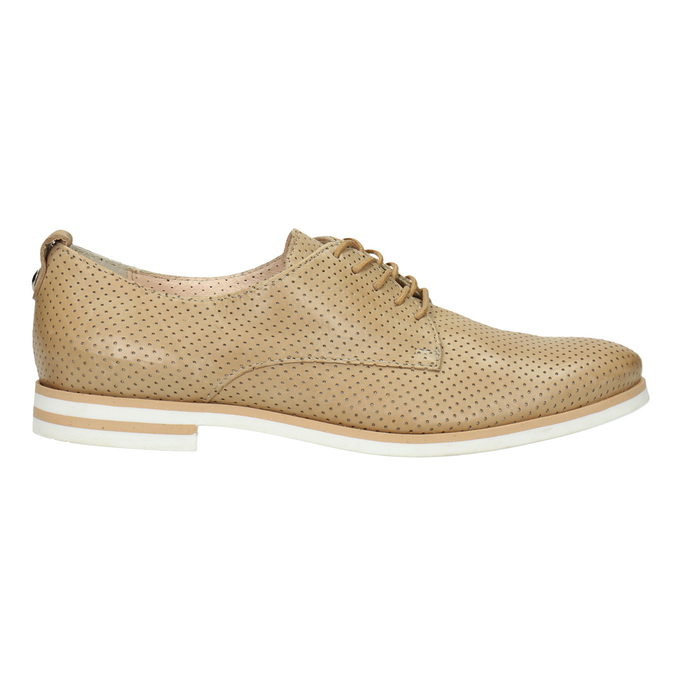 Ladies' casual leather shoes bata, beige , 526-3626 - 15
