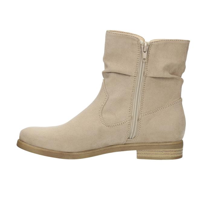 Ladies' high ankle boots bata, beige , 599-8614 - 26