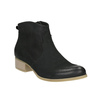 Black leather high ankle boots bata, black , 596-6633 - 13