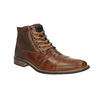 Leather ankle boots with zips bata, brown , 894-3684 - 13