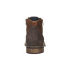Leather ankle boots with zips bata, brown , 894-3684 - 17