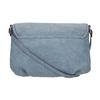 Crossbody handbag with perforated flap bata, blue , 961-9709 - 19