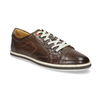 Men's leather sneakers bata, brown , 846-4617 - 13