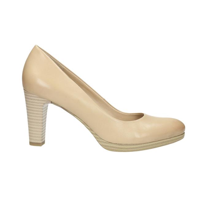 Ladies´ leather pumps, beige , 726-8641 - 15