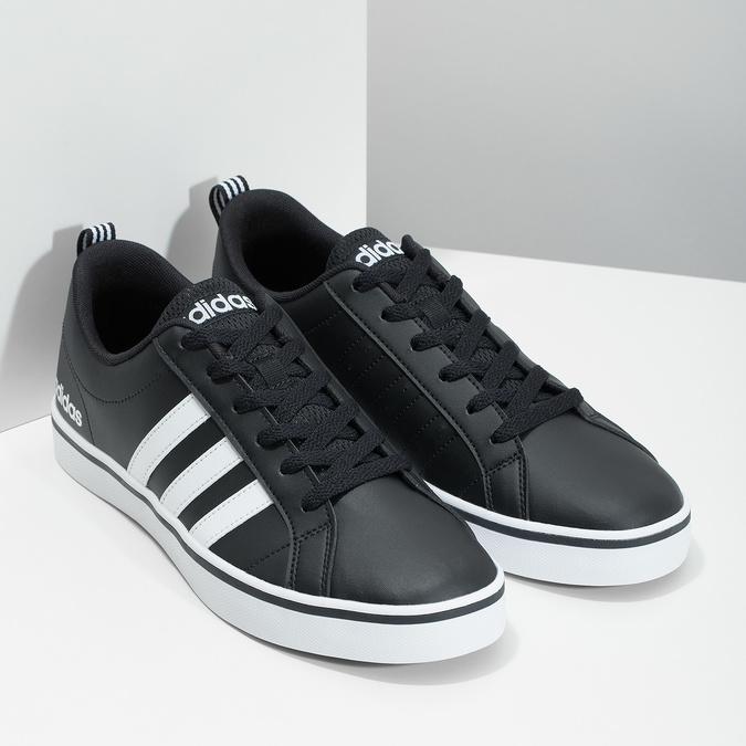 Men's casual sneakers adidas, black , 801-6136 - 26