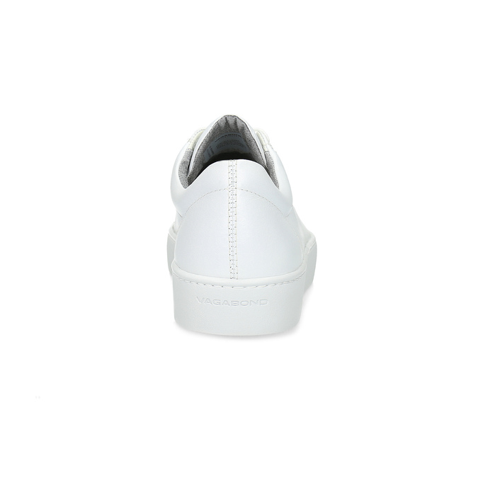 White leather sneakers vagabond, white , 624-1019 - 15