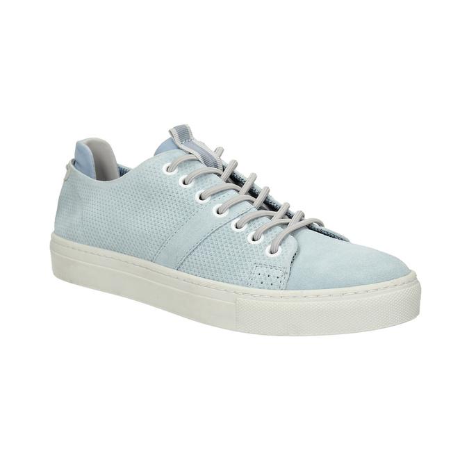 Ladies' leather sneakers bata, blue , 523-9601 - 13