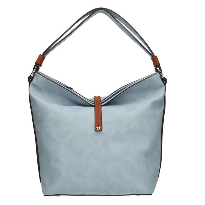 Blue Hobo-style handbag bata, blue , 961-9705 - 26