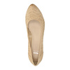 Leather pumps with a wedge heel bata, beige , 626-8638 - 19