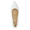 Ladies´ leather pumps bata, white , 624-1632 - 19