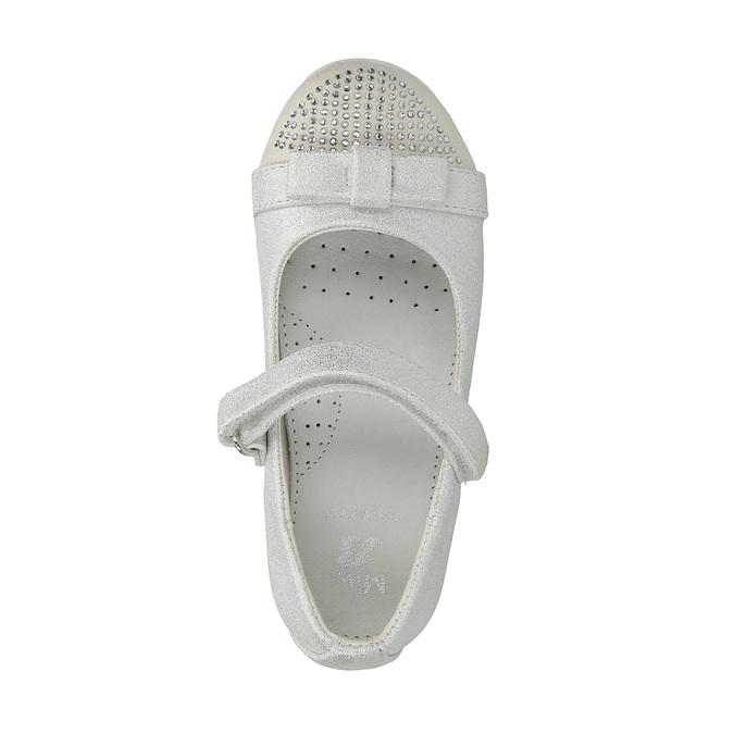 Girls' ballet pumps with Velcro mini-b, white , 221-1179 - 19