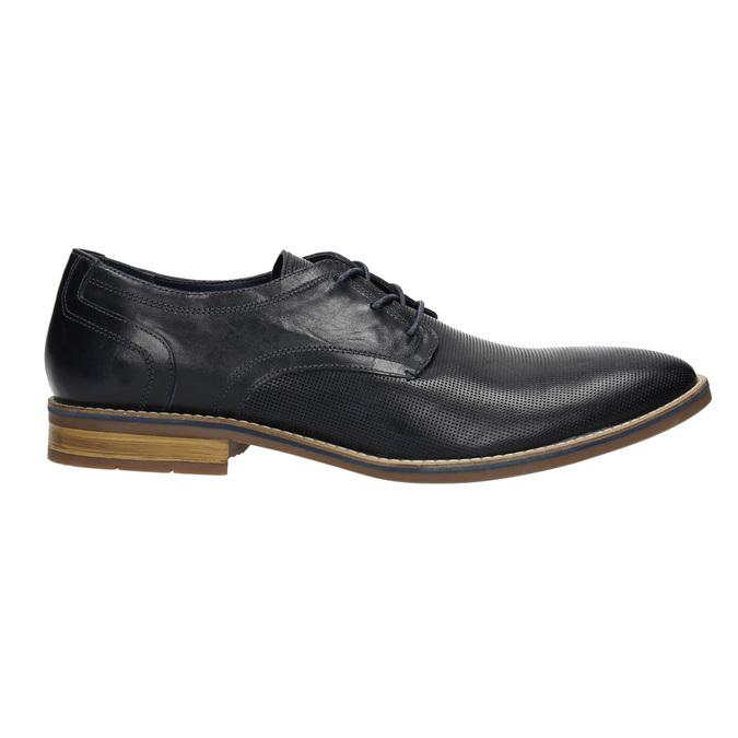 Men's casual leather shoes bata, blue , 826-9817 - 15