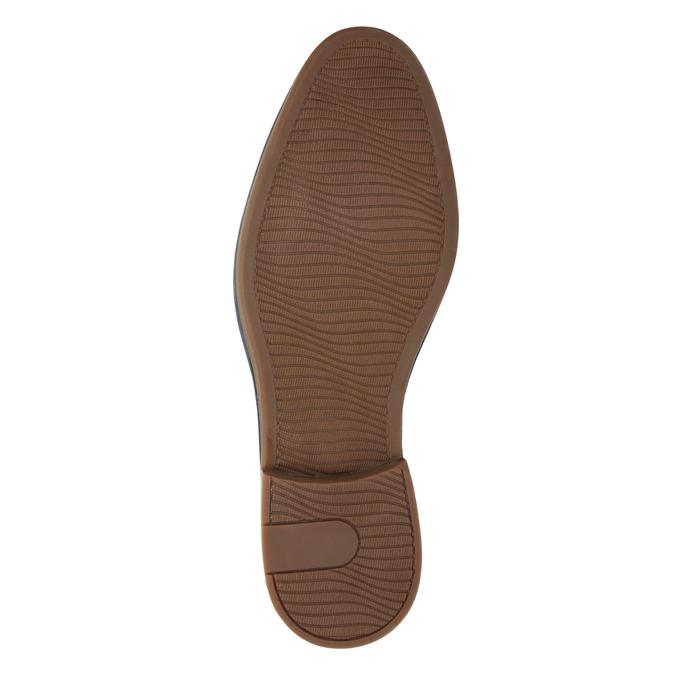 Men's casual leather shoes bata, blue , 826-9817 - 26