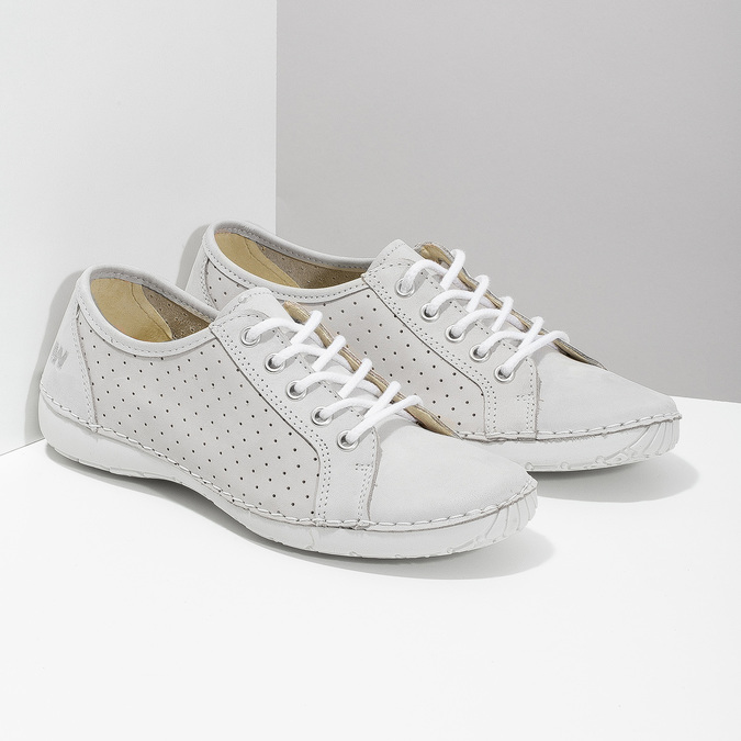 Ladies' casual leather shoes weinbrenner, gray , 546-1602 - 26