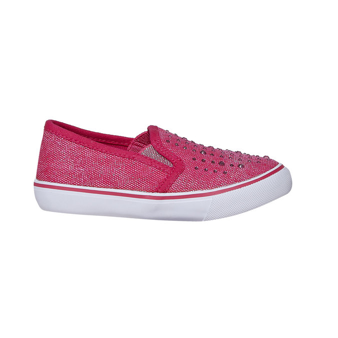 Girls' slip-on shoes with rhinestones north-star, pink , 229-5193 - 15